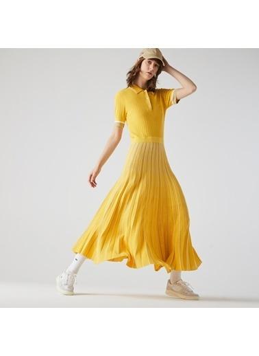 Lacoste Kadın Kısa Kollu Elbise EF1841.FYQ Sarı